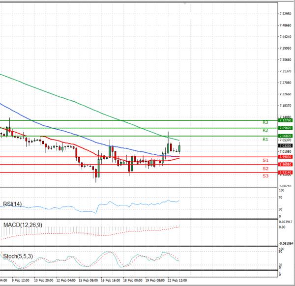 Dollar - Turkish Lira Analysis Technical analysis 23/02/2021